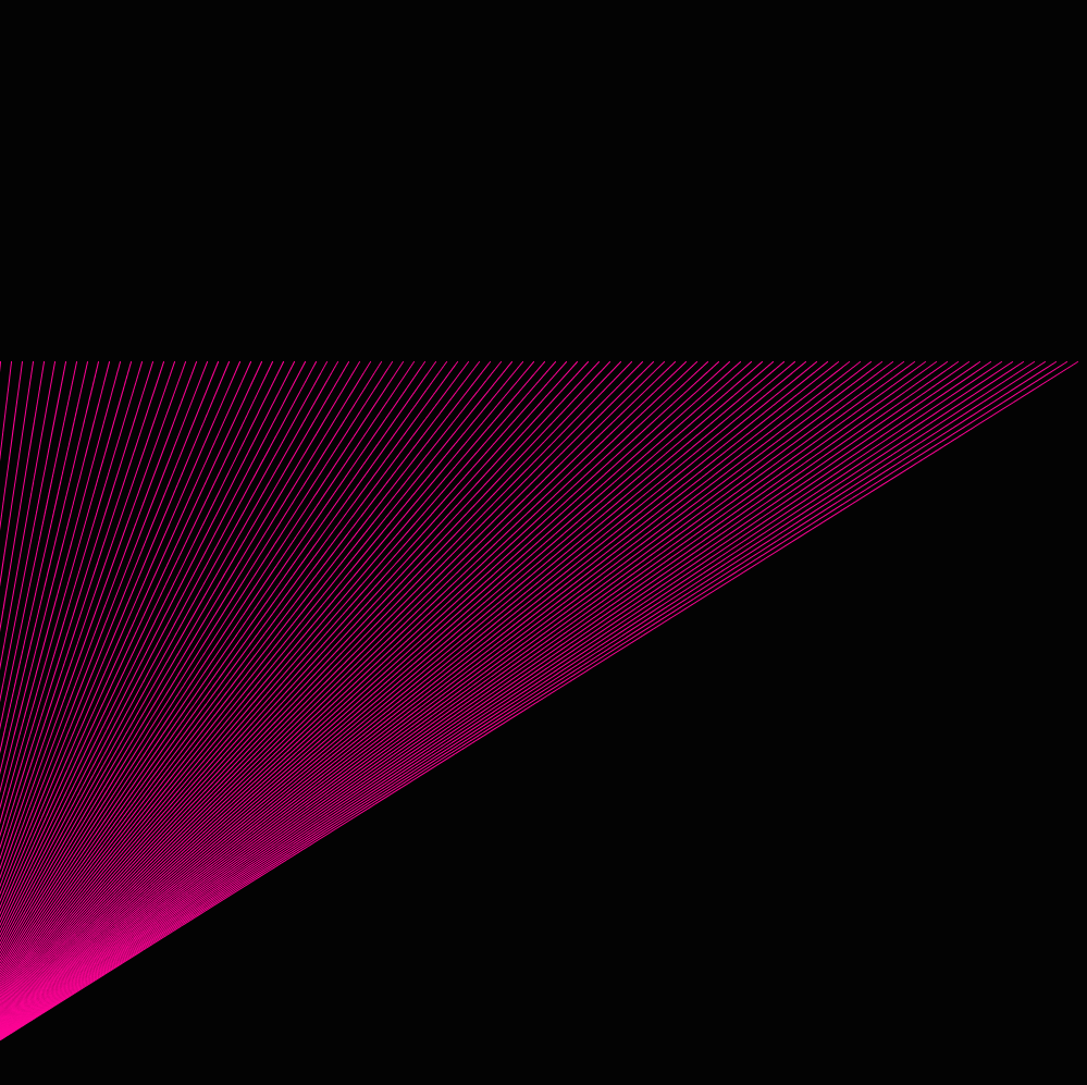 Pink laser triangle